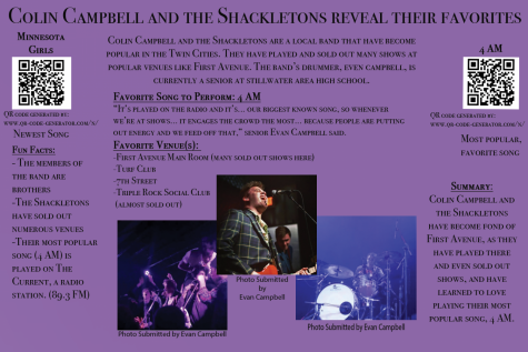 Colin Campbell and the Shackletons reveal their favorite songs