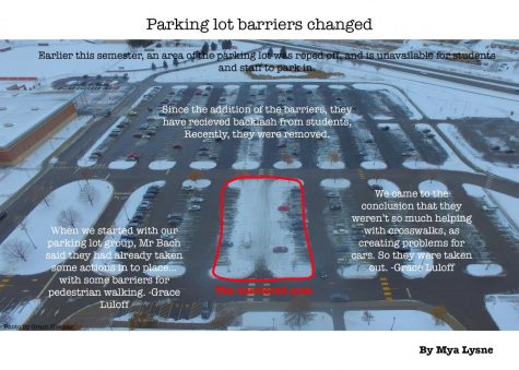 Parking lot barriers changed to improve safety