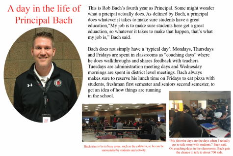 Spend a day in the life of Principal Rob Bach