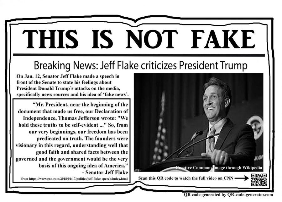 Jeff Flake criticizes Trump's media attacks