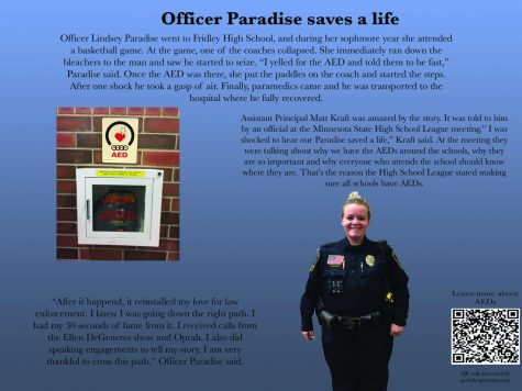 Officer Paradise's life-saving event inspires her career in law enforcement