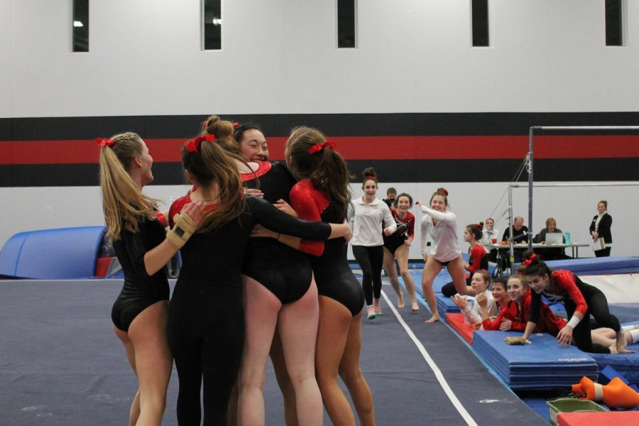 CHAMPS: Gymnastics posts school record score to win state title