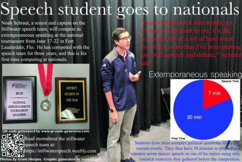 Speech student, Noah Schraut, reaches nationals