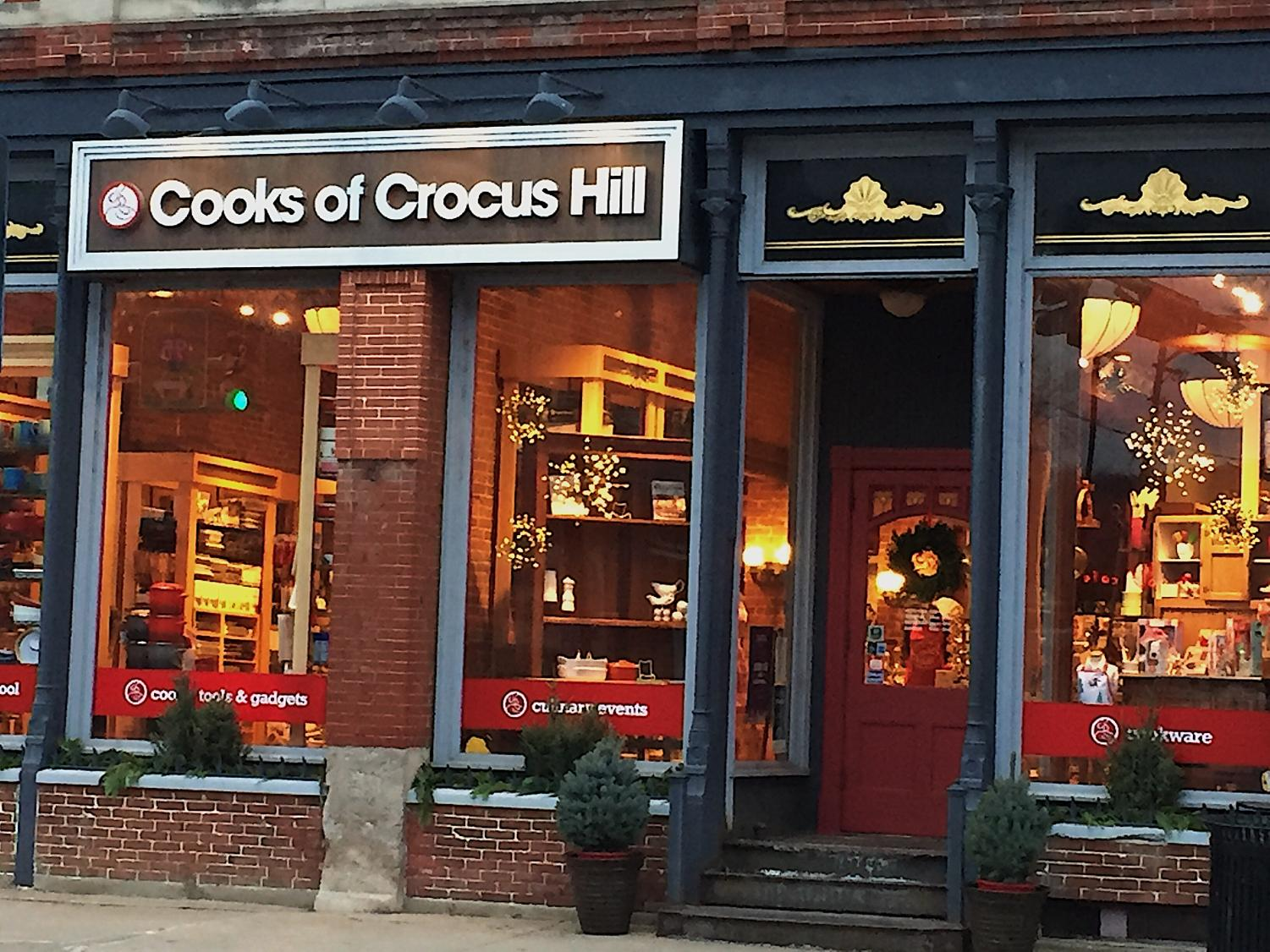 Cooks of Crocus Hill is a kitchen supply store with locations in Stillwater, St. Paul and Minneapolis. The stores are owned by husband and wife Karl Benson and Marie Dwyer. The store has been running since 1973.