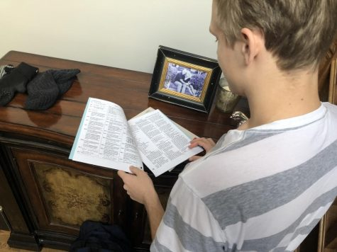 Across the country, juniors and seniors prepare to take the ACT, such as junior Haakon Bjork. The competitive nature of the test has created many means of trying to get a better score: apps, books/booklets, and classes.