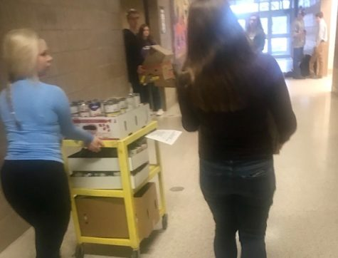 National Honor Society food drive gives back to community