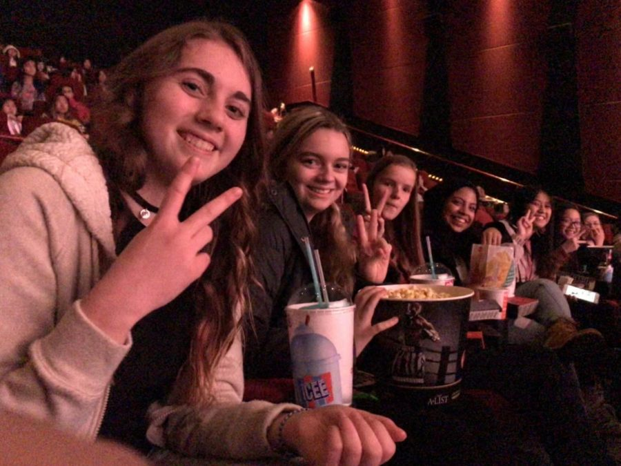K-pop club going to see Burn the Stage at AMC in Roseville. The movie is about BTS, a globally popular K-pop group. The students in K-pop club went on this field trip to learn more about the history and daily life one of their favorite bands, spend time together and have fun.