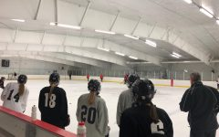 Girls hockey sticking together