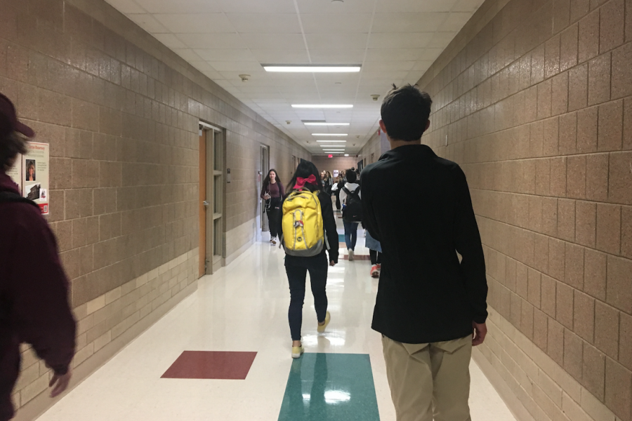 Many students walk past Adam Potter in the hallways during the school day. Adam tries to say hi to everyone he knows. Trey is one person that Adam will see throughout the days in the hallways.
