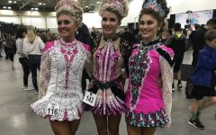 Ayuna Lamb-Hickson is pictured above with two friends from her dance school who are also her competitors in their age level, Roisin (center) and Maddy (right). Not many people know that Lamb-Hickson Irish dances but she's okay with that.
