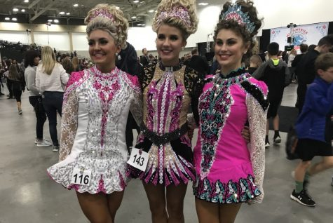 Ayuna Lamb-Hickson is pictured above with two friends from her dance school who are also her competitors in their age level, Roisin (center) and Maddy (right). Not many people know that Lamb-Hickson Irish dances but she