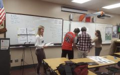 Students attend weekly practice in BPA advisor Philip Schut's classroom. The students practice for their upcoming state competition in March.