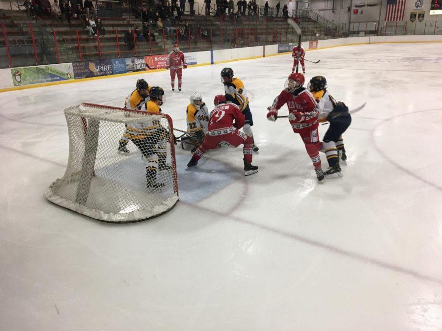 Boys hockey team begins section play