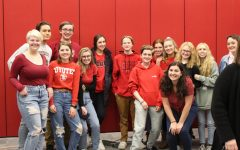 Students attended the Feb. 21 school board meeting to show support for Student Council Presidents' representation at school board meetings.