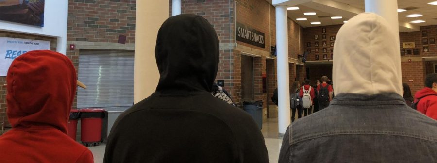 As a part of the dress code, students are not allowed to wear their hood up during school for safety reasons. Along with hoodies, students are also not allowed to wear any clothing pieces and show shoulders, or any other revealing items.
