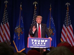 President Trump speaks at a rally in April. Recent rallies in Minneapolis have caused controversy following the impeachment inquiry.
