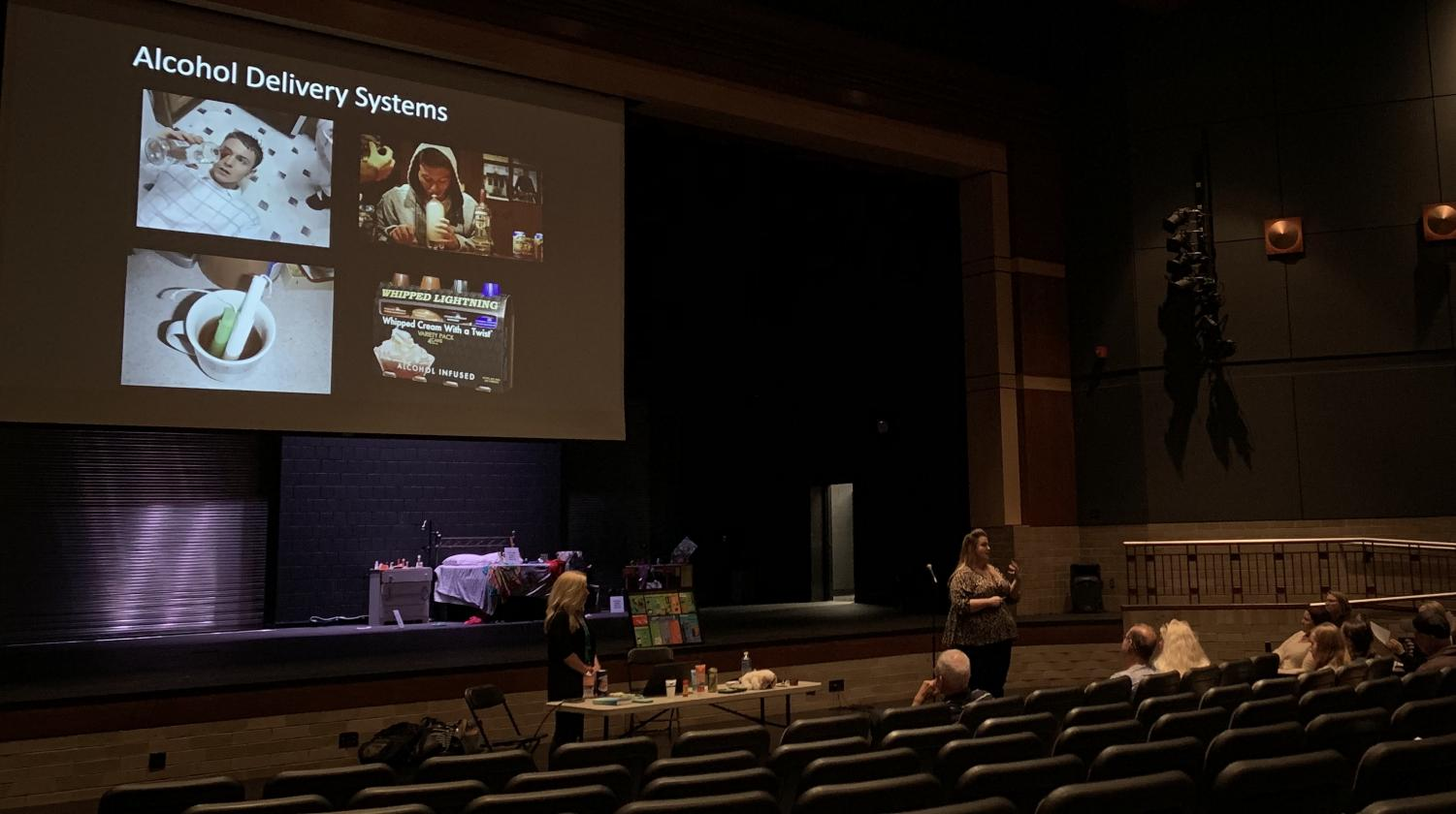 The Top Secret Project was held Sept. 30 in the auditorium. The Hazelden Betty Ford Foundation led a presentation about the