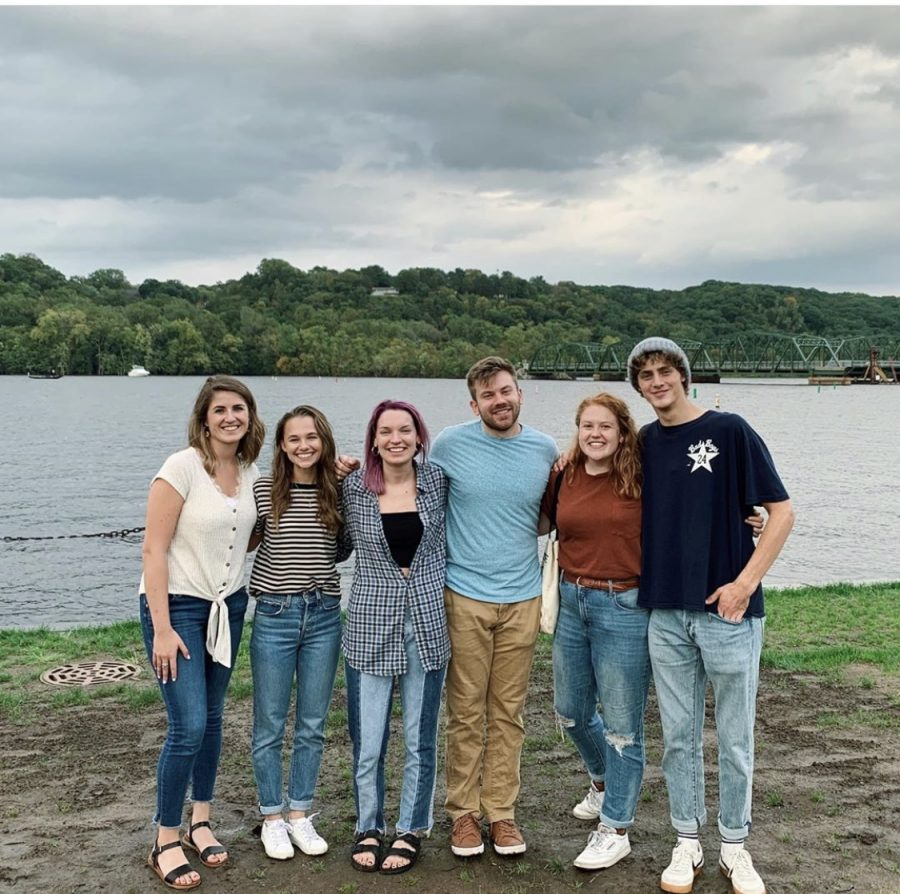 Friends and family of Zach Sobiech met in September with the cast members for the film. They spent some time in downtown Stillwater together, and hit it off like old friends. From left to right: Amy Adamle, Madison Iseman, Grace Sobiech, Mitchel Kluesner, Sammy Brown and Steffan Argus.