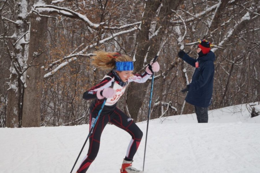 Advice from Olympic gold medalist sparks girls nordic ski team