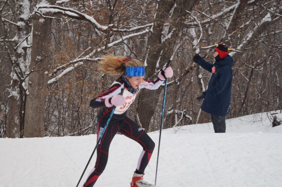 Junior Ana Weaver skied at the Suburban East conference meet last year. Weaver and her teammates hope to have another successful season, with many returners skiing again this year.