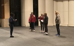 Theatre class practices for upcoming show, 'Fairy Tale Misfits'