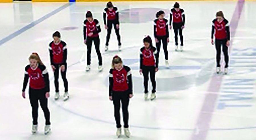 This year's figure skating team with seven excited seniors are ready to have a great last season with the help of senior Julia Bennett, senior Sydney McNurlin and senior Britta Hornback are seniors. These girls are the original creators of the team and are going to have trouble saying goodbye.
