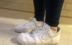 Sophomore Adrianna Garcia styles her Air Force 1's. Garcia is contributing to the culture trend by showing off her shoes at school.