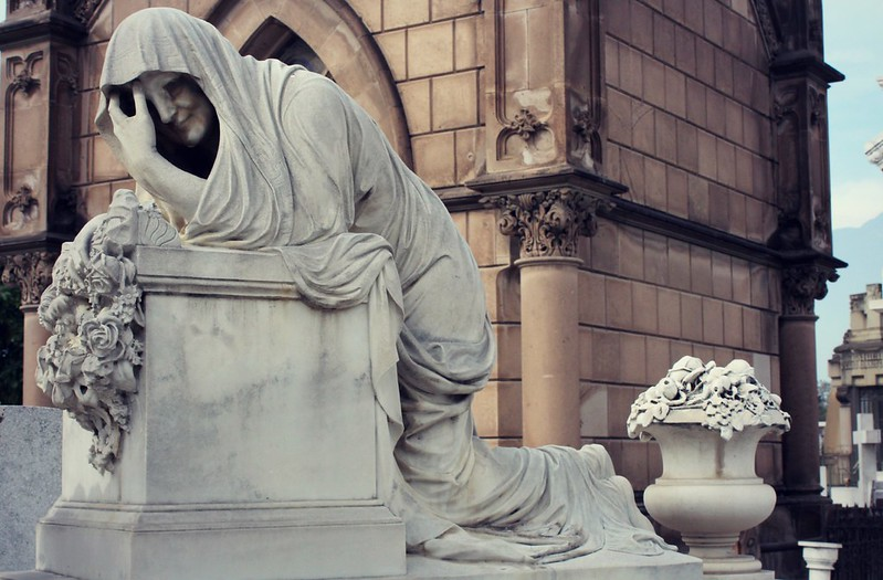 'The Curse of La Llorona' premiered in theaters April 19. The horror movie is about a Mexican folk tale that dates back to the 16th century. The movie features actress Linda Cardellini. Pictured is a statue of the weeping woman.