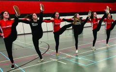 Winter dance team performs at basketball games