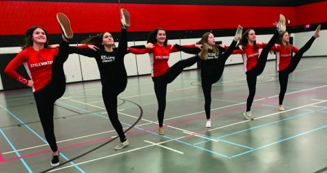 The girls winter dance team performed at the boys varsity basketball game Jan. 28 at 7 p.m. The varsity team performed a jazz routine and the junior varsity performed a kick routine.