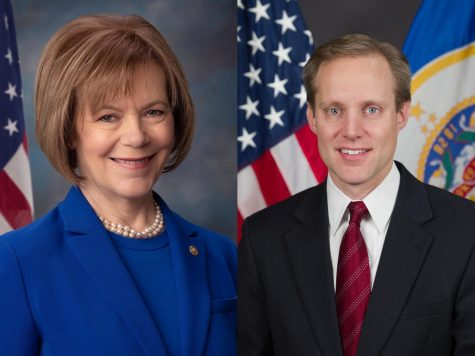 Secretary of State Steve Simon and Senator Tina Smith are both elected officials striving to secure United States' elections. Simon created the position of Election Security Cyber Navigator, held by Bill Ekblad.