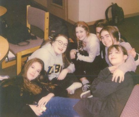 "Musical theatre students bond during a break for their rehearsals for the ""Beauty and the Beast."" The group worked hard for weeks, but due to the coronavirus pandemic, the show is now cancelled."