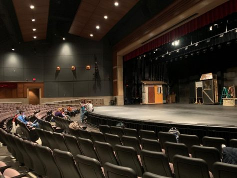"""Students prepare for """"Beauty and the Beast"""" rehearsal. Rehearsal takes place from 2:30-5:30 p.m. Mondays through Fridays."""
