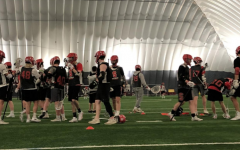 Last season's boys lacrosse team practices at the St. Croix Recreation Center. Due to coronavirus, practices are currently postponed.