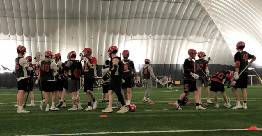 Boys lacrosse train to face long-standing competition