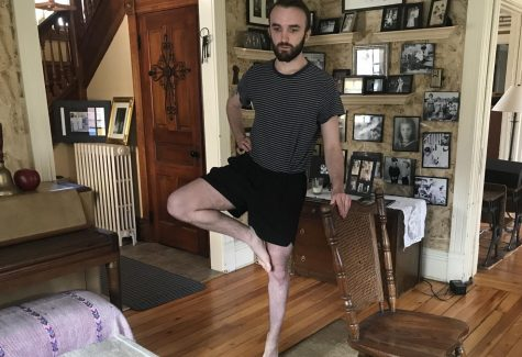 Stillwater graduate Ben Valerius ('19) attends his virtual Ballet One class. Due to the COVID-19 outbreak, Valerius has had to have his classes for his Bachelor of Performing Arts degree online.
