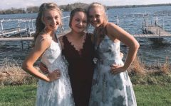 Seniors Jenna Yingling, Annika Brown, and Catherine Monty before prom 2019. The girls were very excited for the big night.