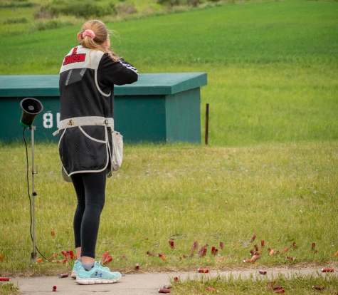 Eighth grader Melanie Johnson shoots at the Alexandria State Championship in 2019, held by MSHSL. This year