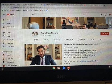 John Krasinski's Youtube channel SGN  automatically plays his first episode from the very beginning of quarantine.