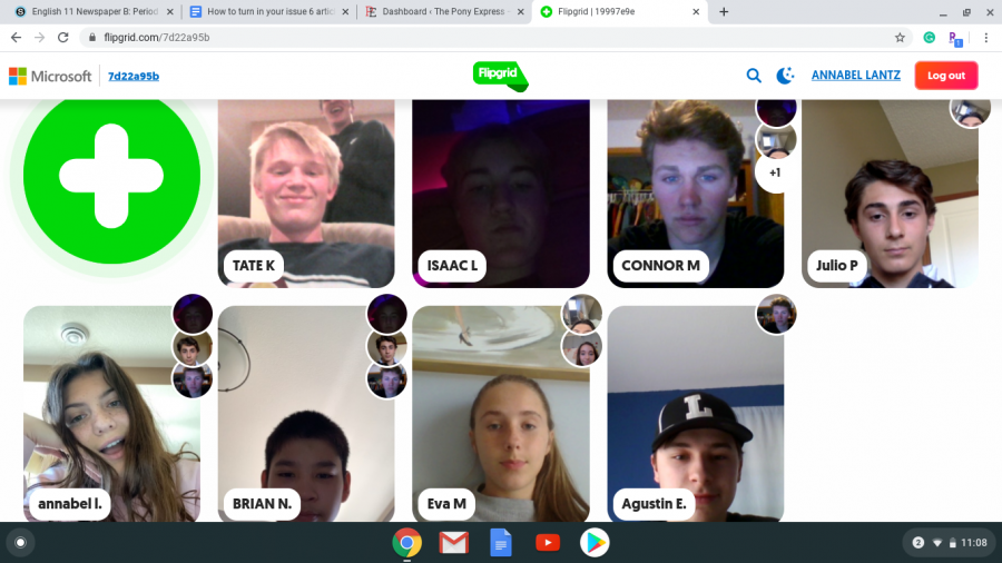 Spanish+teacher+Christen+Smithberg%27s+class+communicates+through+a+Flipgrid.+This+is+one+of+the+many+was+the+class+communicates.+