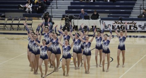 The Chevals dance team at their competition last year, which was hosted by Kennedy high school. They are still waiting for details surrounding this season to be determined.