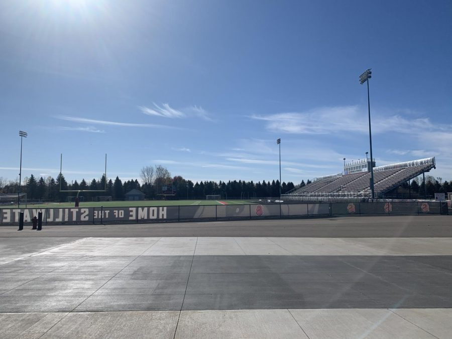 The+Pony+Stadium+remains+empty+to+avoid+the+spread+of+Covid-19.+Without+any+fans+in+the+stands+students+are+having+a+hard+time+showing+school+spirit+this+year.