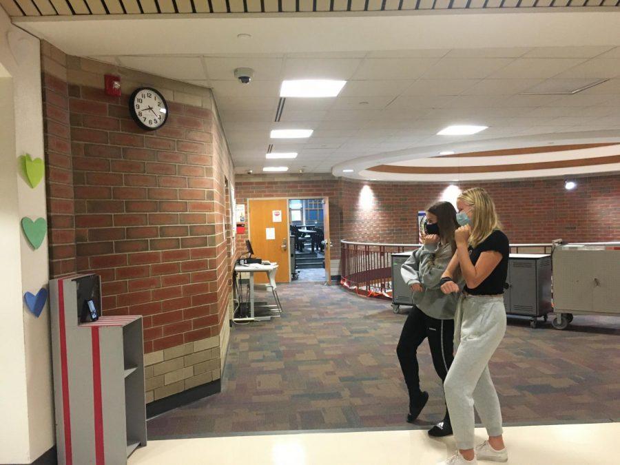 Tik Tok in the hallway