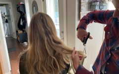 Sophie Lundgren turns to at home haircuts in this time of quarantine. Not able to get access from the salons lead her and many other individuals to turn to other at home alternatives.