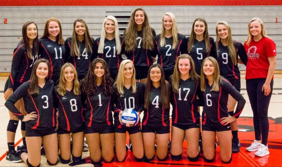This is the varsity volleyball team for the 2020 volleyball season.