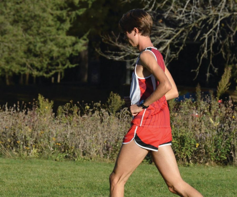 Senior Ethan Vargas walks after his meet on Oct. 31; he was first out of 160.