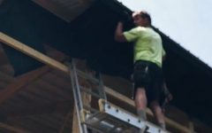 Andrew Jurek works at a construction site during the summer.
