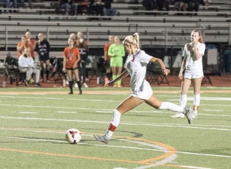 Senior Lexi Huber recently committed to University of St. Thomas. The school changed from Division 3 to Division 1  school for athletics, allowing Huber to make her decision to play there.