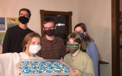 Members of Stillwater's Young Democrats make cookies for the Vice Presidential debate. The Young Democrats watched the debate to be educated and learn more about their candidates Vice President. It is important to stay educated on politics by watching, reading, or listening to the news.