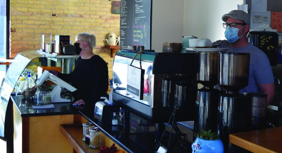 Owner+Mike+Duncan+working+in+his+bakery.+The+Muddy+Paw+Cafe+is+introducing+new+items+to+their+menu+like+savory+puff+pastry+turnovers.